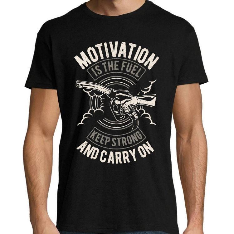 Мъжка Тениска Motivation Is The Fuel (Black)