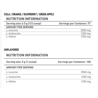 Battery Nutrition BCAA (500 грама)