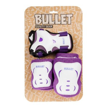 Bullet Комплект протектори Triple Pad Set Purple/White