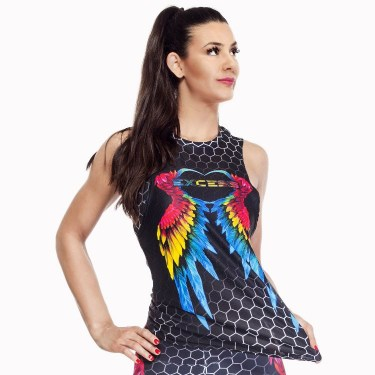 Excess Дамски спортен потник Colorful Wings (Excess Training Top)