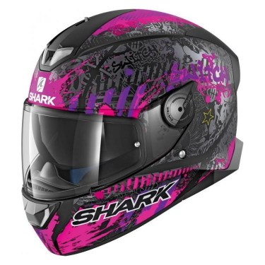Shark Каска за мотор Skwal II Switch Rider 2 - Black / Pink
